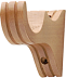 Flat Style Wooden Bracket (shown in Natural Oak finish)